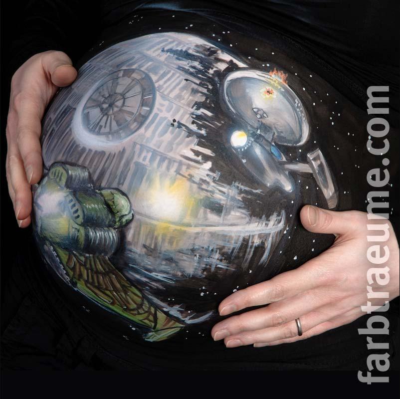 Babybauchbemalung-starwars-startrek-fanpainting-scifi-farbtraeume-lampertheim
